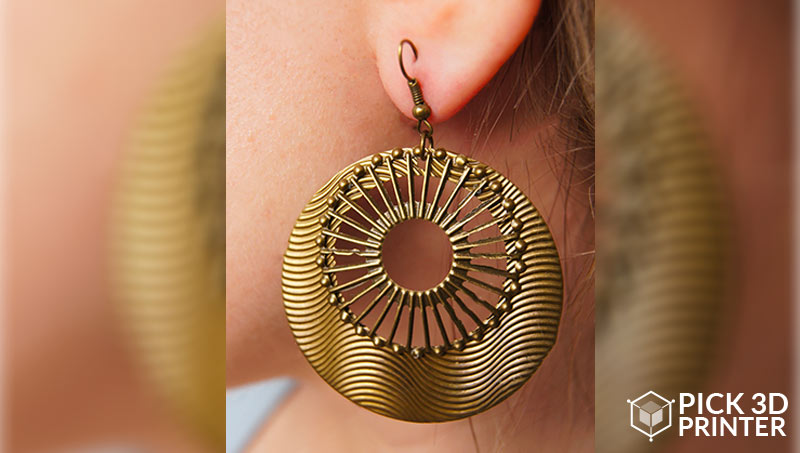 3d printed gold bronze jewelry