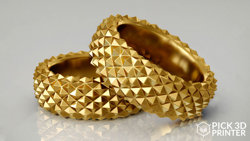 3d printed gold jewelry