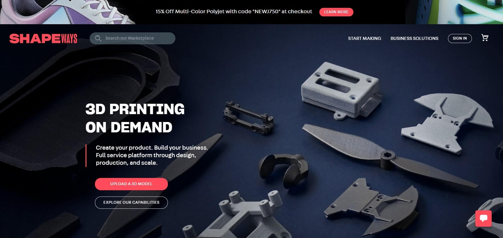 shapeways.com 3d printing service