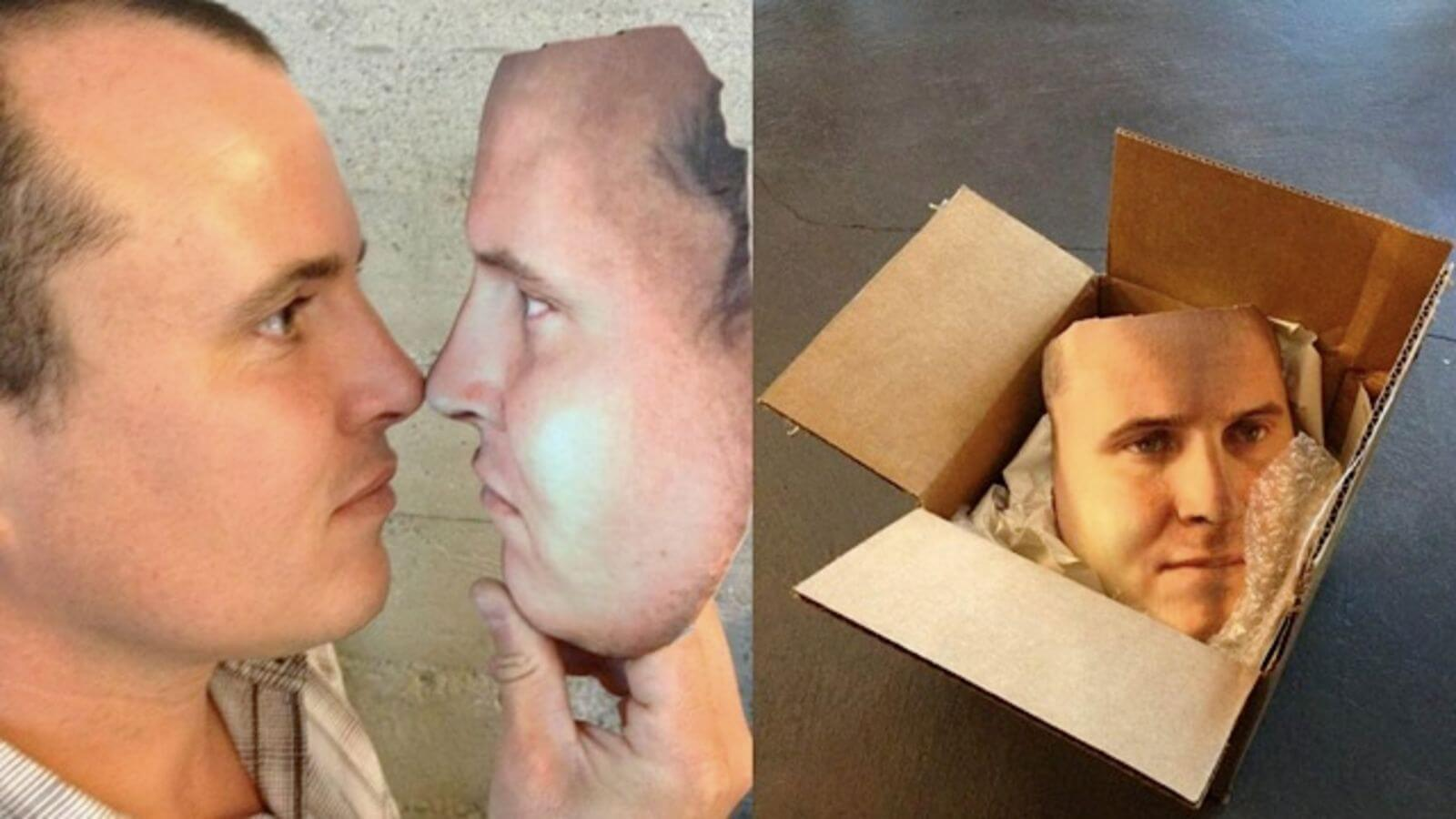 a 3d printed face for halloween costume