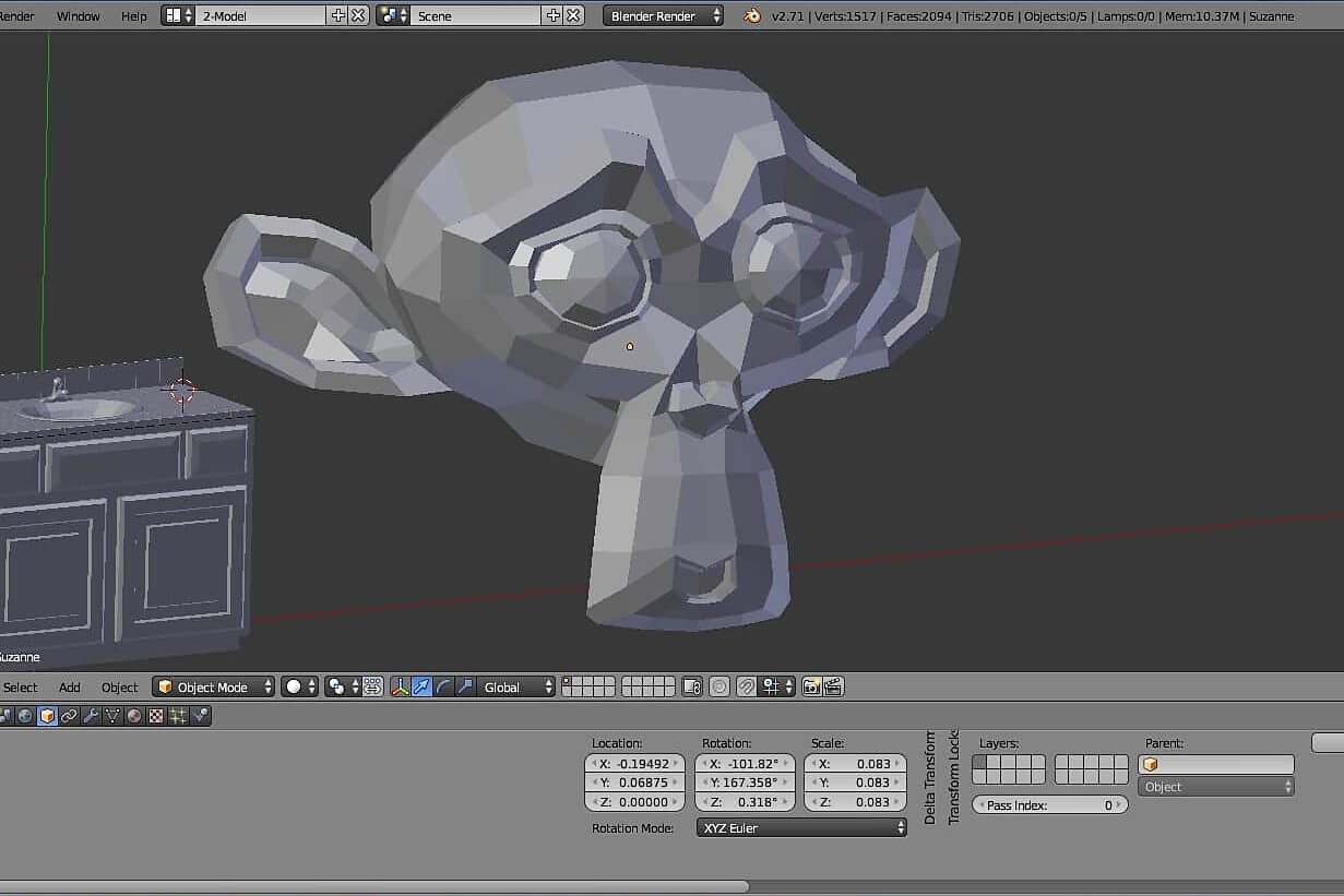 Creating a 3D Model using blender