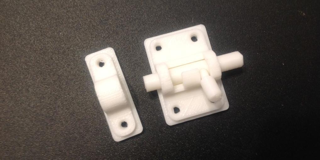 Door Lock 3D Printed