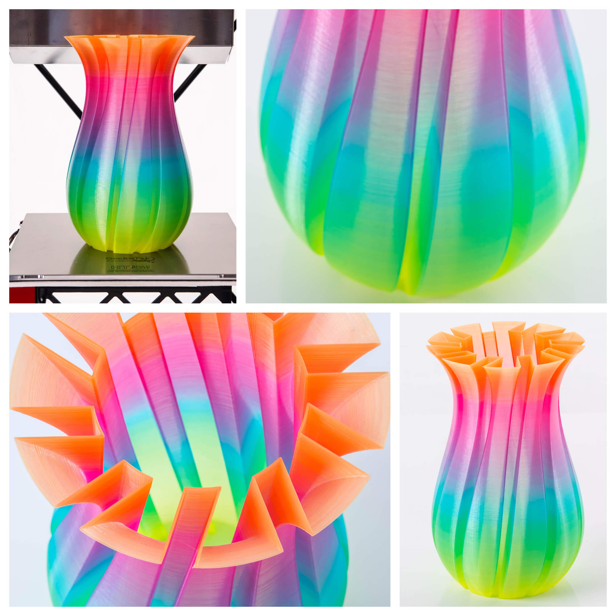 3d printed colorful vase