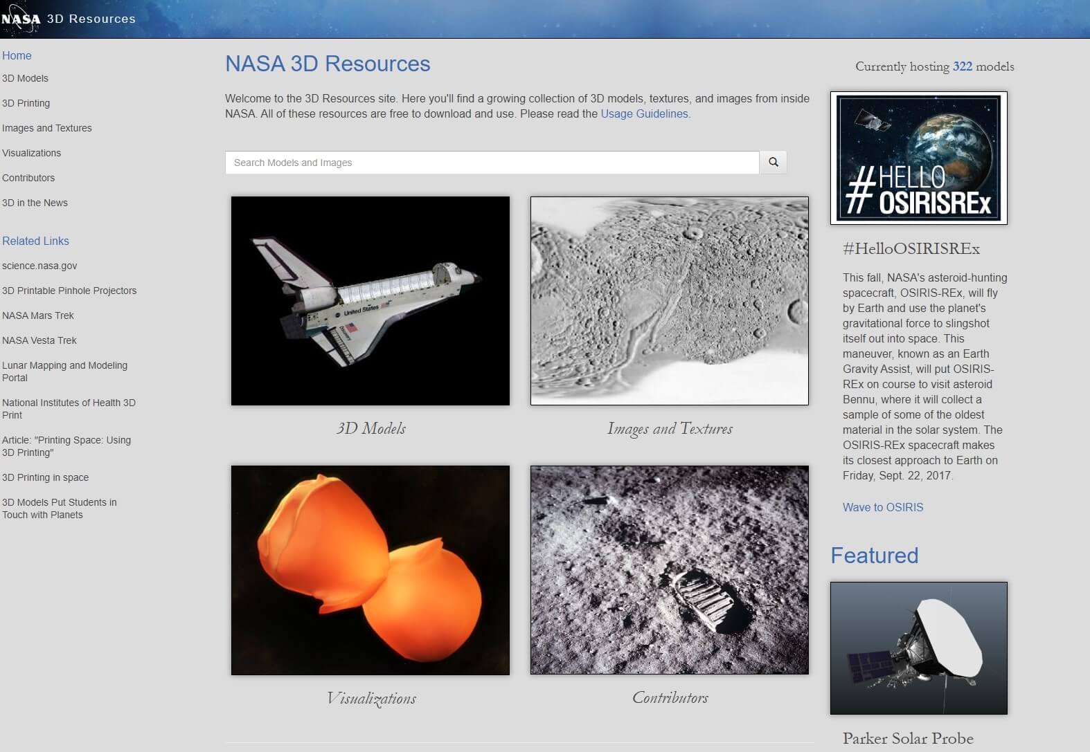 NASA 3D Resources