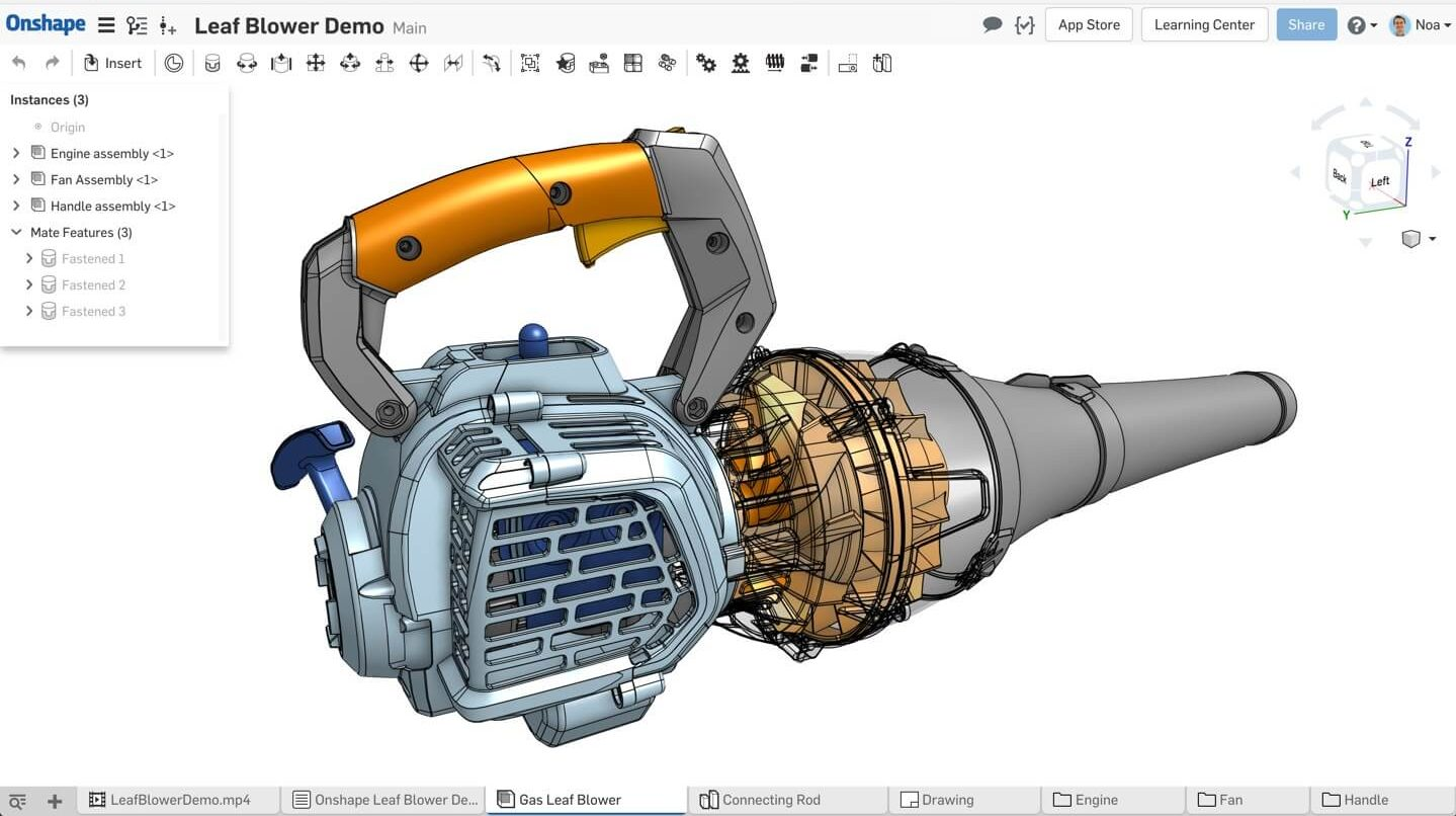 Onshape 3d modeling software