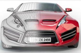 3d modeled car