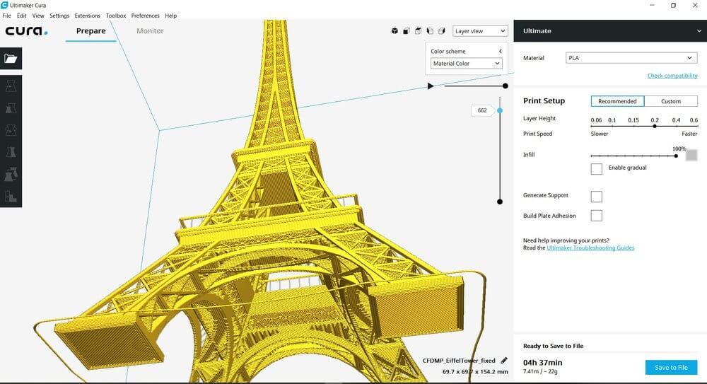 3d printing cura 3d printing software