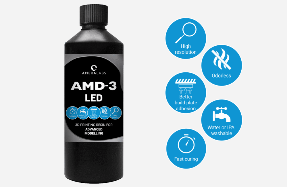 AMD-3-LED-advanced-modelling-3D-printing-resin