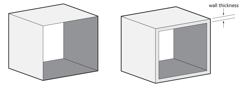 Wall-Thickness 3d printing