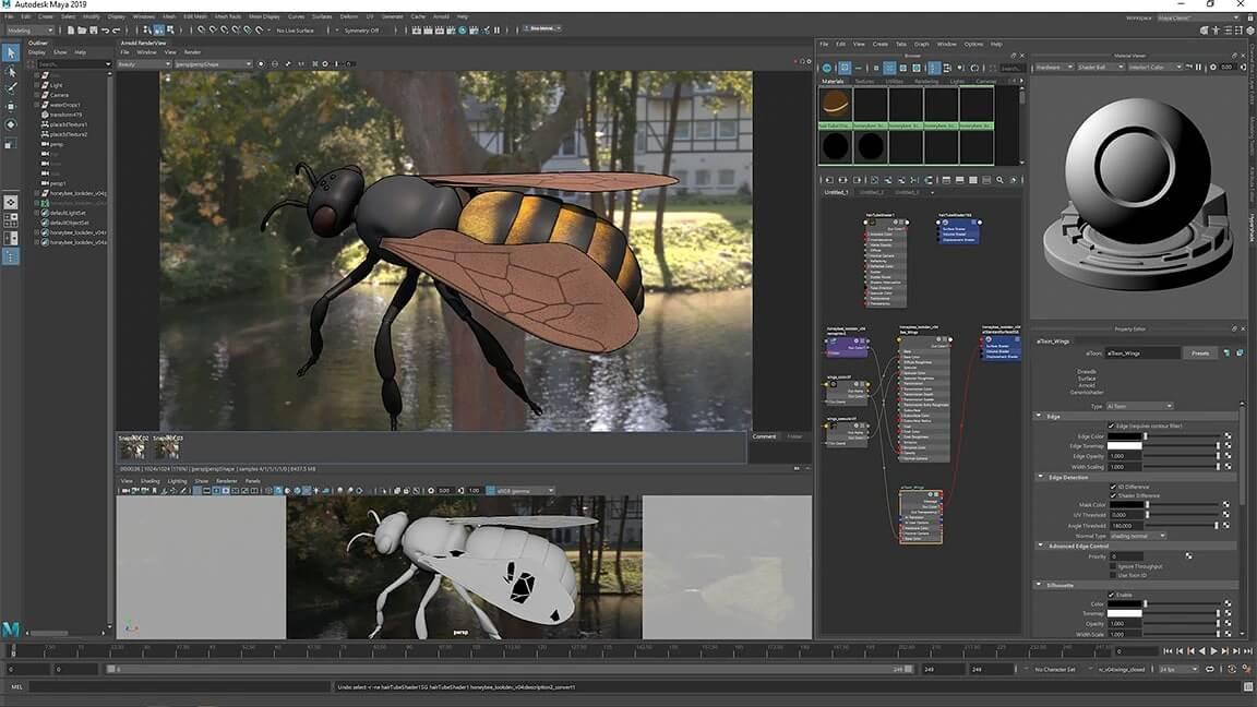 maya 3d modeling software