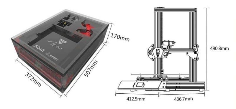 tevo flash 3d printer specifications