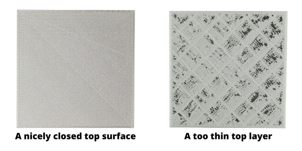 thick top layer 3d printing