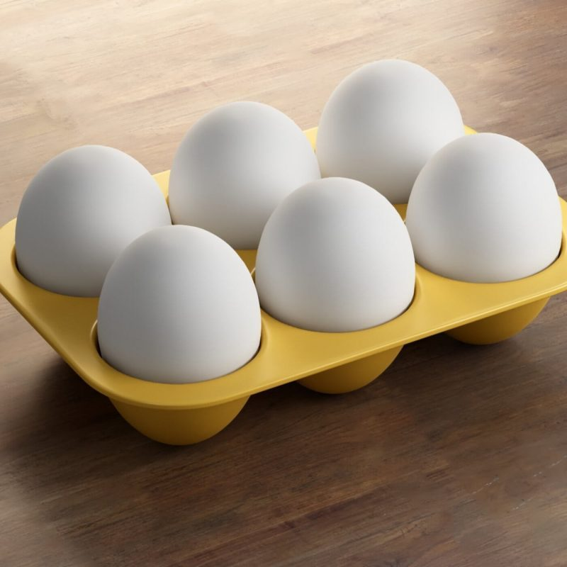 Egg Stacking Tray 3d printed