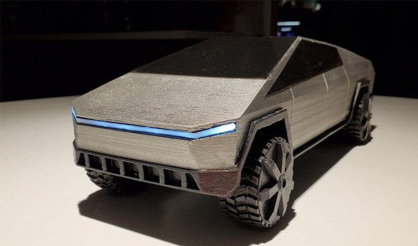 tesla 3d printed scale model