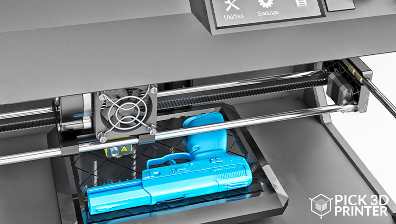 3D Printer Making a Gun with Thermoplastic
