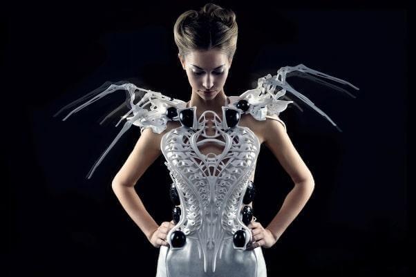 3d printed spider dress