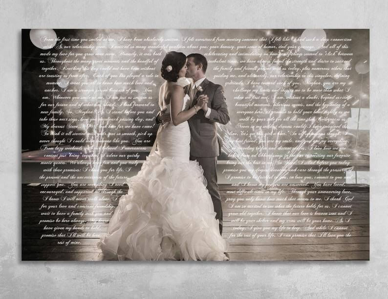 3d printed wedding canvas