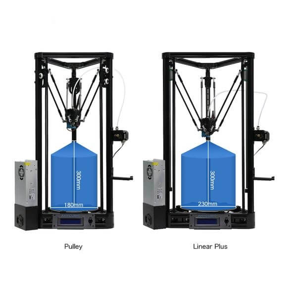 Anycubic Kossel linear vs pulley