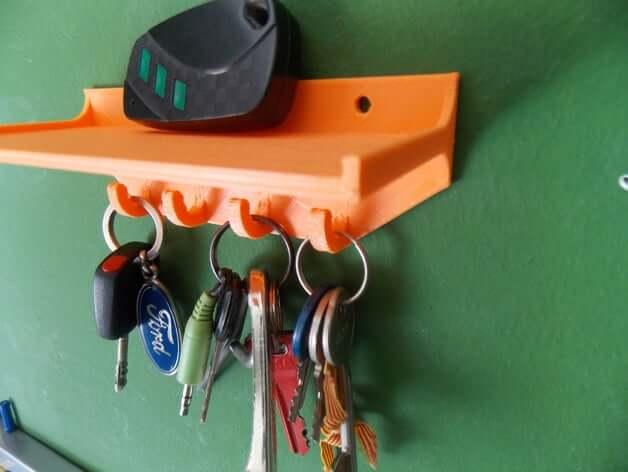 Key holder with shelf