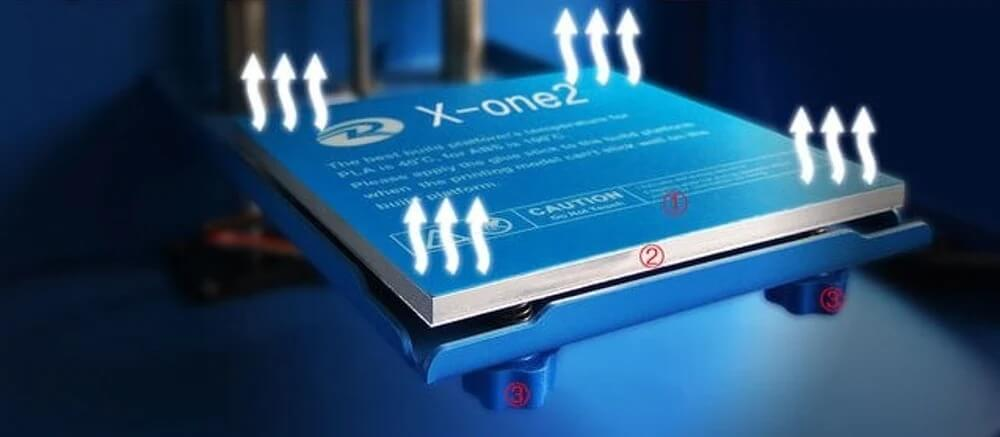 QIDI Tech X-One2 heated bed