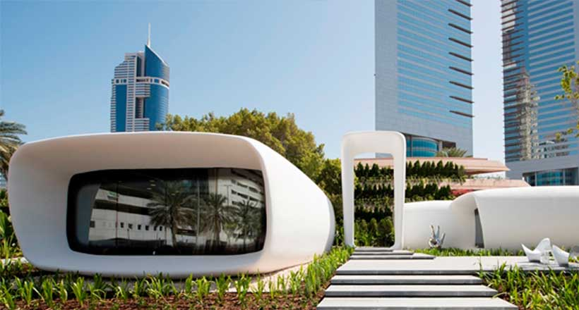 dubai 3d printed office