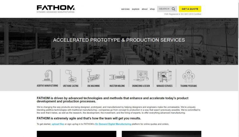 fathom 3d printing service