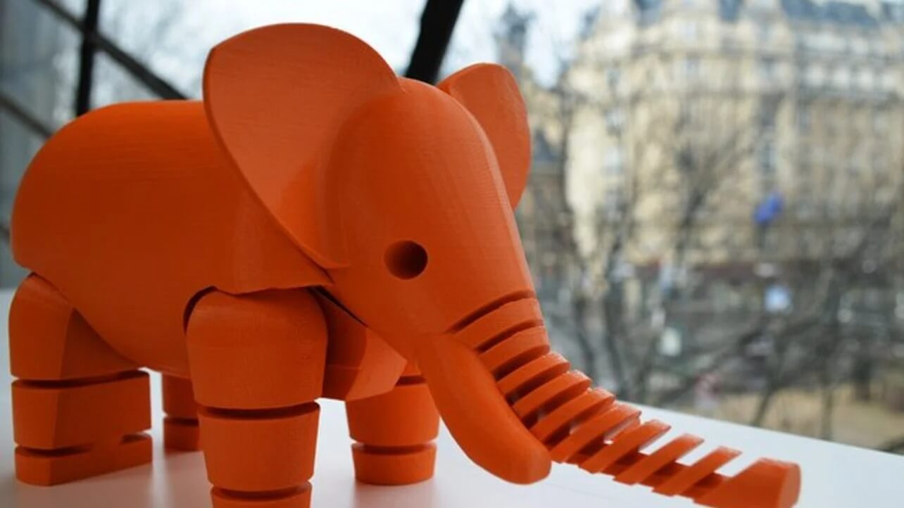 pla 3d printed elephant