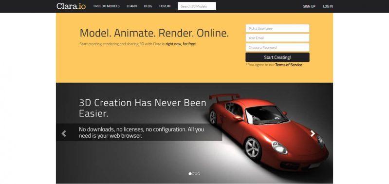 Clara.io_ Online 3D Modeling, 3D Rendering, Free 3D Models - clara.io