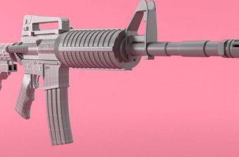 gun 3d model for 3d printing