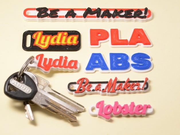 3D Print Keychain
