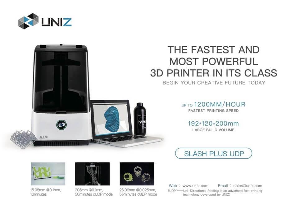 Uniz Slash Plus 3D Printer Specifications