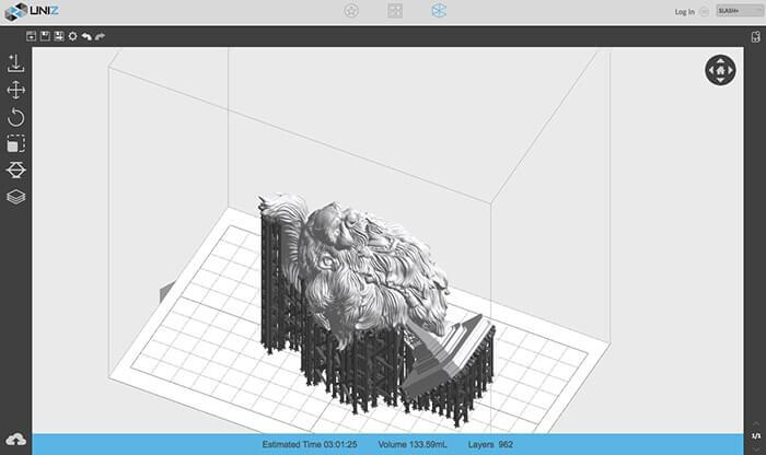Uniz Slash Plus 3D Printer software