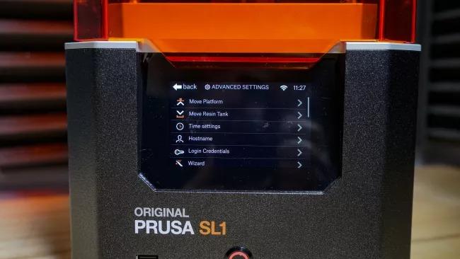original prusa sl1 3d printer first