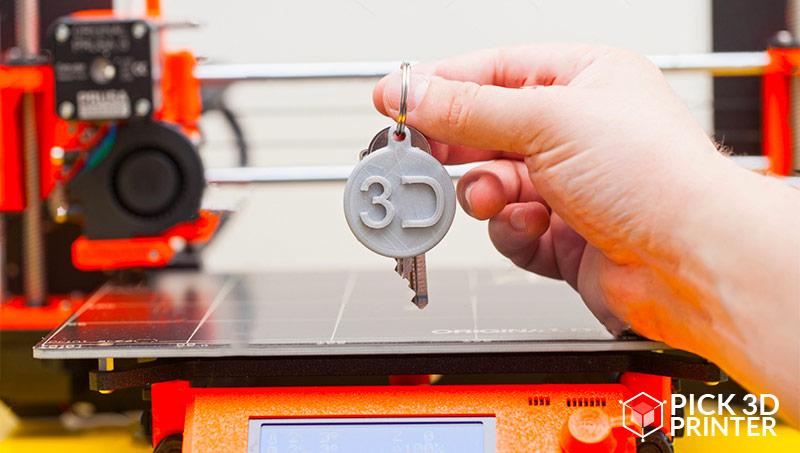 How do I print 3D keychains