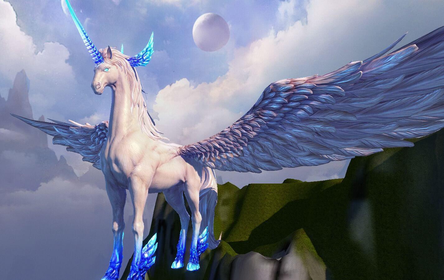unicorn-3d-model-low-poly-max