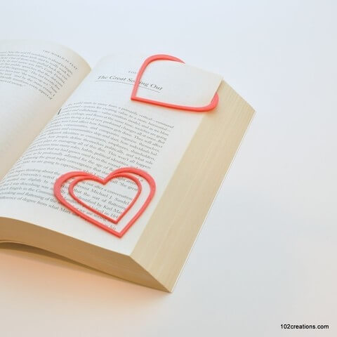 Heart Bookmark by 102 Creations