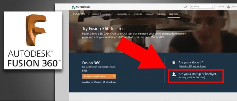 How to get a Free Version of Fusion 360