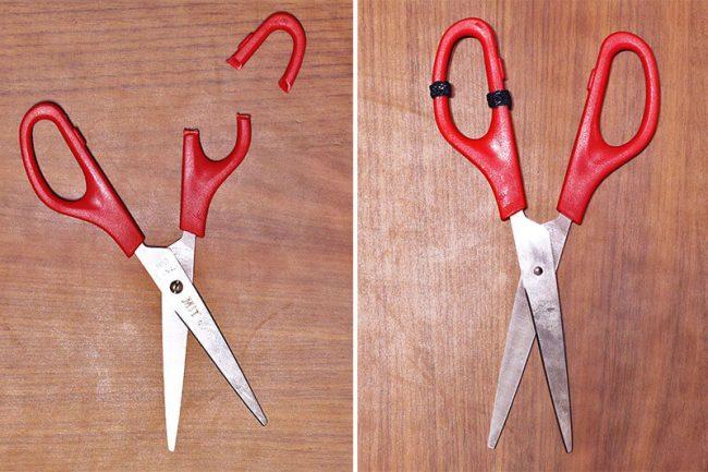 Repairing your scissors