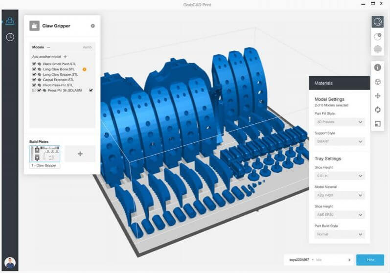 The Stratasys J55™ software