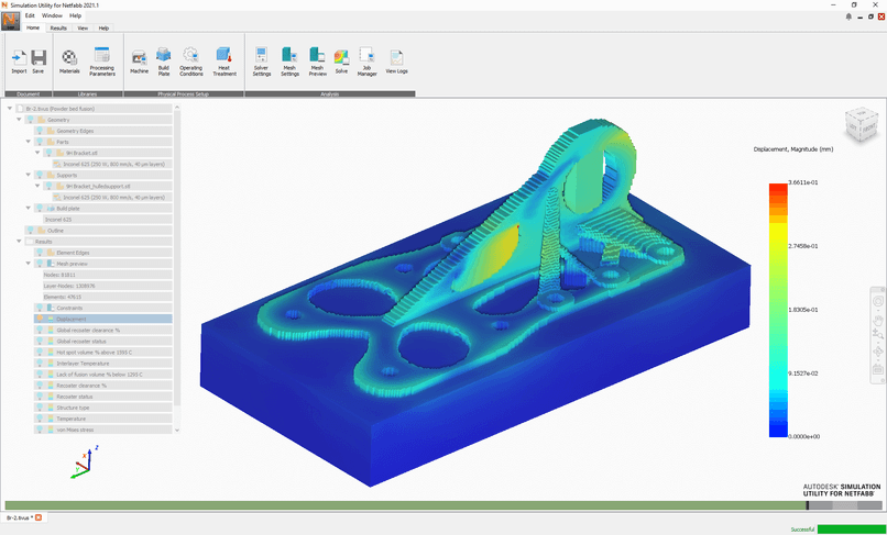 Noteworthy Features of NetFabb the sumulation utility