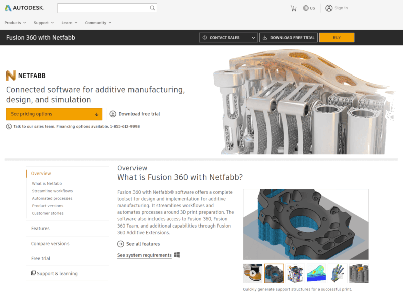 Overview of Netfabb