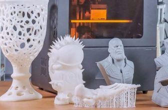 Peopoly Phenom 3D printer and prints