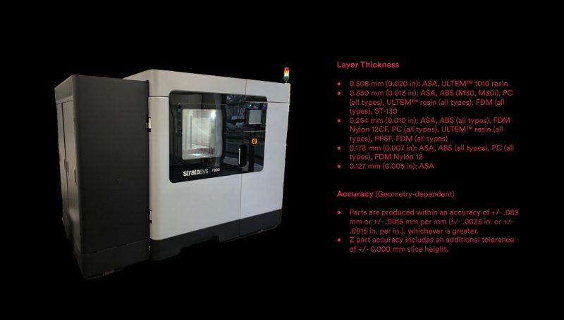 Stratasys F900 Specifications