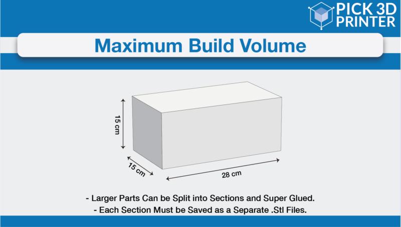 maximum build volume