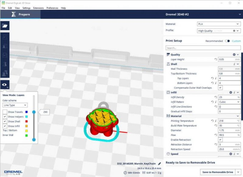 Dremel Digilab 3D40 software