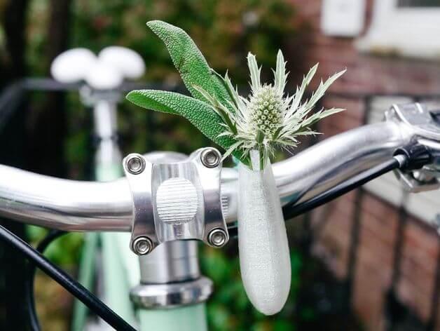 Handlebar Bike Vase by Colleen Bikini