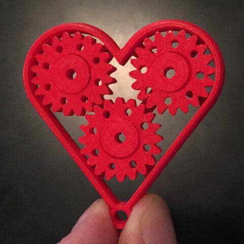 Heart Gear Keychain by urbanatwork