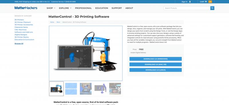 MatterControl software