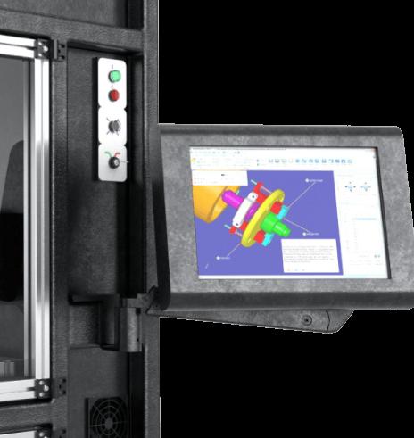 Stratasys V650 Flex 3D Printer Solid view build