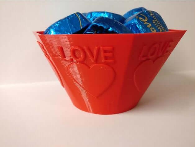 Valentine Heart Love Bowl by keithblack